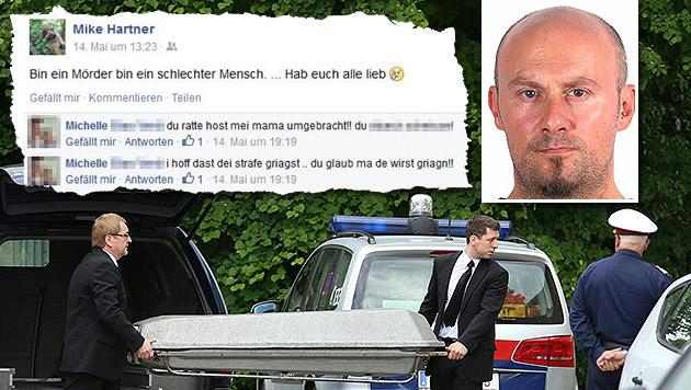 Flüchtiger Mörder (34) gestand Tat auf Facebook (Bild: APA/APA Matthias Lauber, LPD OÖ, facebook.com, krone.at-Grafik)