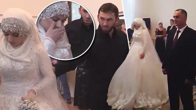 Nahe getroffen treffen die Braut