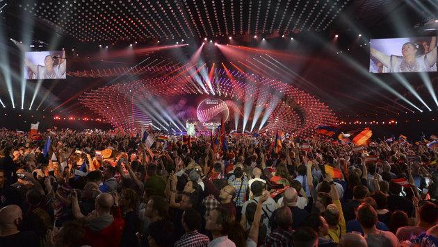 Jubel in der Wiener Stadthalle (Bild: AP/Kerstin Joensson)