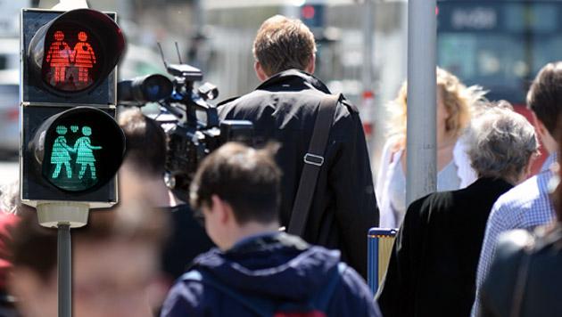 "Salzburg: Empörung wegen geplanter ""Ampelpärchen"" (Bild: APA/ROLAND SCHLAGER)"