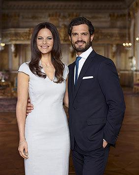 Schwedens Prinz Carl Philip mit seiner Braut Sofia Hellqvist (Bild: kungahuset.se)