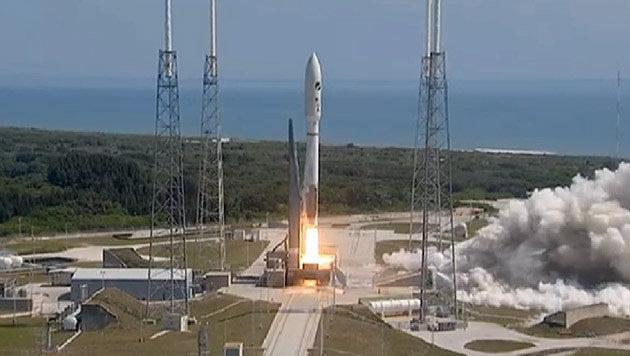 """Der Start von X-37B an Bord einer """"Altas V""""-Rakete (Bild: United Launch Alliance)"""