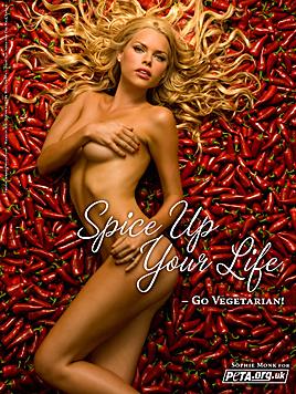 Aktrice Sophie Monk bewies: Vegetarier sind alles andere als langweilig. (Bild: peta.ort)