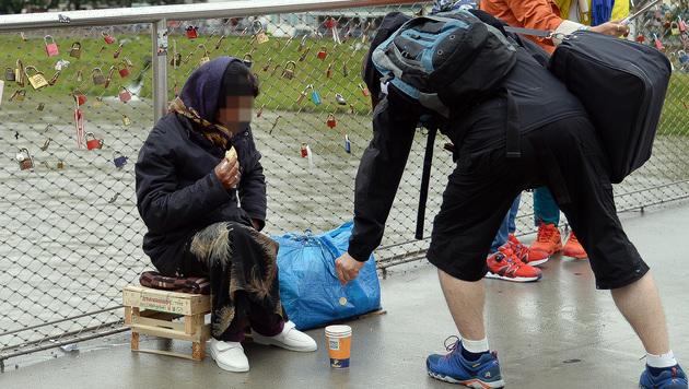 Sektorales Bettelverbot in Salzburg beschlossen (Bild: APA/BARBARA GINDL)