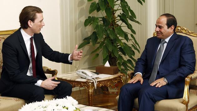 Sebastian Kurz mit Ägyptens Staatschef Abdel Fattah al-Sisi (Bild: APA/AUSSENMINISTERIUM/DRAGAN TATIC)