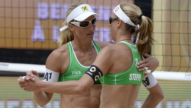 ÖVV-Damen in Vitoria mit 1 Sieg in 3 Spielen (Bild: APA/EPA/URS FLUEELER)