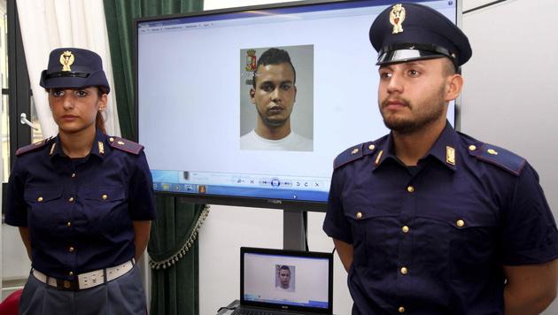 Pressekonferenz der Polizei nach Abdel Touils Verhaftung (Bild: APA/EPA/MOURAD BALTI TOUATI)