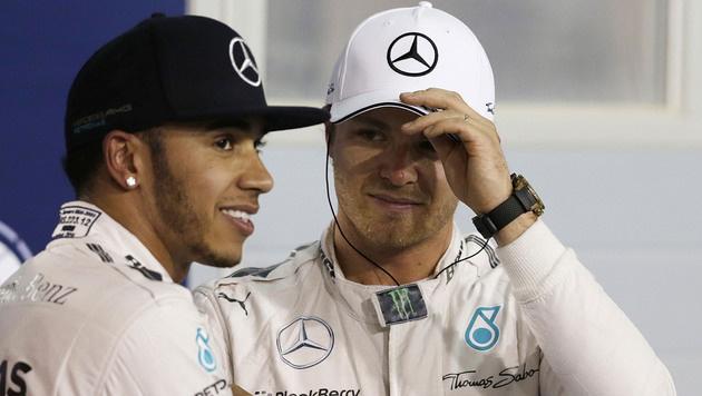 Hamilton: Keine Aussprache mit Rosberg! (Bild: AP/Luca Bruno)