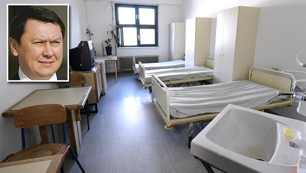 Rakhat Aliyev war alleine in einem Drei-Mann-Raum untergebracht. (Bild: APA/HELMUT FOHRINGER, APA/HBF/DRAGAN TATIC)