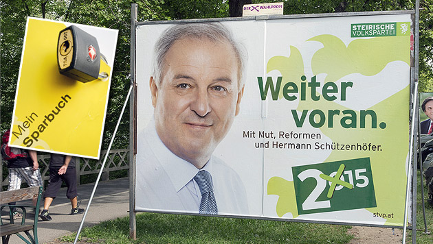 Der steirische ÖVP-Chef Hermann Schützenhöfer hadert mit der Abschaffung des Bankgeheimnisses. (Bild: APA/HANS KLAUS TECHT, APA/ERWIN SCHERIAU)