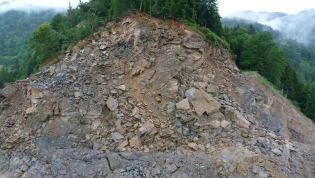Hangrutschung in Kärnten: Evakuierung aufgehoben (Bild: LPD Kärnten)