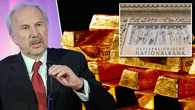 Jetzt offiziell: Nationalbank holt Gold zurück (Bild: APA/Georg Hochmuth, dpa, APA/Hans Klaus Techt)