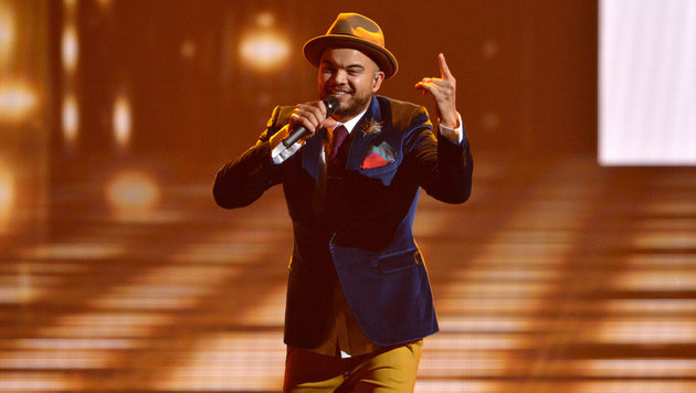 Guy Sebastian singt für Australien. (Bild: ORF/Thomas Ramstorfer)