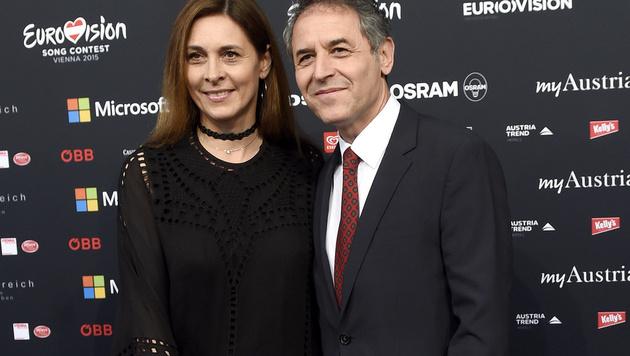 ÖFB-Teamchef Marcel Koller mit Ehefrau Gisela (Bild: APA/HELMUT FOHRINGER)