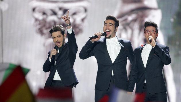 Gianluca Ginoble, Ignazio Boschetto und Piero Barone sind Il Volo und aus Italien. (Bild: EPA/GEORG HOCHMUTH)