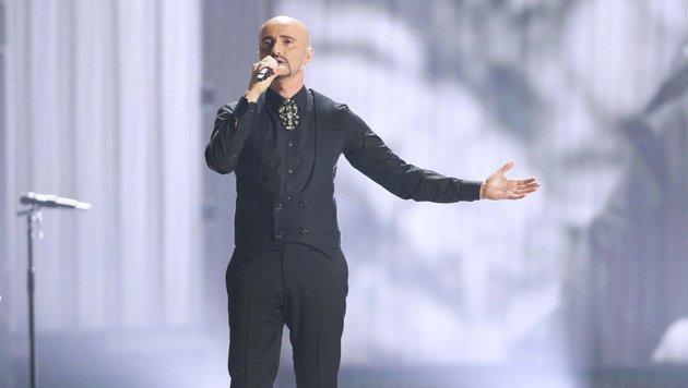 Der Song-Contest-Teilnehmer für Rumänien, Voltaj (Bild: APA/GEORG HOCHMUTH)