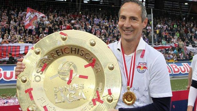 Der 45-jährige Adi Hütter führte die Bullen als erster österreichischer Trainer zum Titel. (Bild: Andreas Tröster)