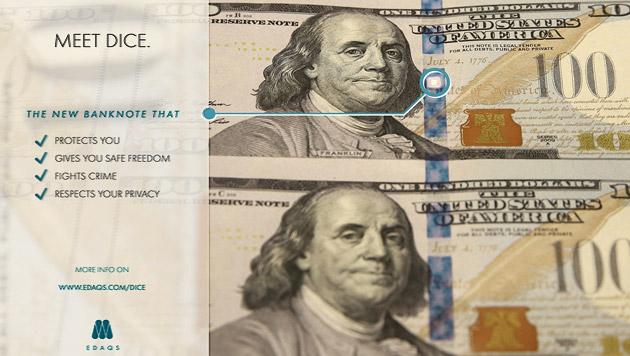 Neuartiges Geld lässt sich ferngesteuert entwerten (Bild: EDAQS)