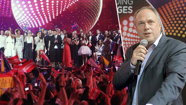 """""""Song Contest wird ORF weniger kosten als geplant"""" (Bild: APA/HERBERT NEUBAUER, APA/GEORG HOCHMUTH)"""