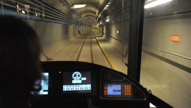 Kameras sind in den Linzer Trams zwar installiert - allerdings sind sie außer Betrieb! (Bild: Chris Koller)