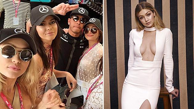 Lewis Hamilton soll mit dem sexy Model Gigi Hadid angebandelt haben. (Bild: Viennareport)