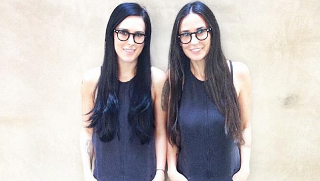Rumer Willis und Demi Moore als doppeltes Lottchen (Bild: instagram.com/ruelarue)