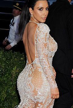 Kim Kardashian lässt keine Gelegenheit aus, sich nackt zu zeigen. (Bild: Viennareport)