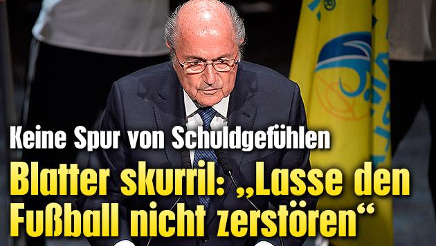 "Blatter skurril: ""Lasse Fu�ball nicht zerst�ren"" (Bild: AP)"