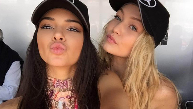 Beim Formel-1-Rennen in Monaco waren Kendall Jenner und Gigi Hadid die Schönsten in der Boxengasse. (Bild: Viennareport)