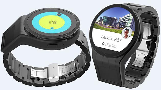 Lenovo stellt Smartwatch mit zweitem Display vor (Bild: Lenovo, krone.at-Grafik)