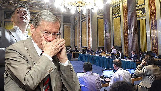 Grün-Mandatar Kogler, Ex-Kanzler Schüssel (Bild: APA/HELMUT FOHRINGER, APA/ROLAND SCHLAGER)