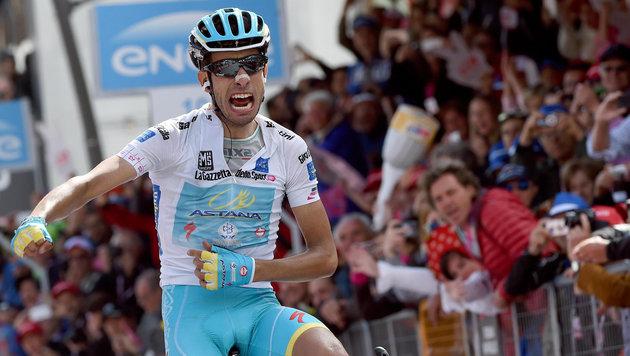 Fabio Aru gewinnt Giro-Etappe, Contador stark (Bild: AP)