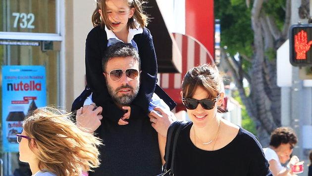 Ben Affleck und Jennifer Garner mit ihren Kindern (Bild: Viennareport)