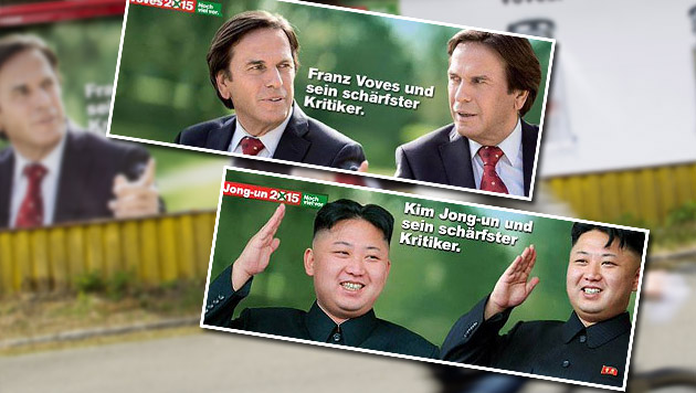Junge Grüne vergleichen Voves mit Kim Jong Un (Bild: APA/ERWIN SCHERIAU, twitter.com)