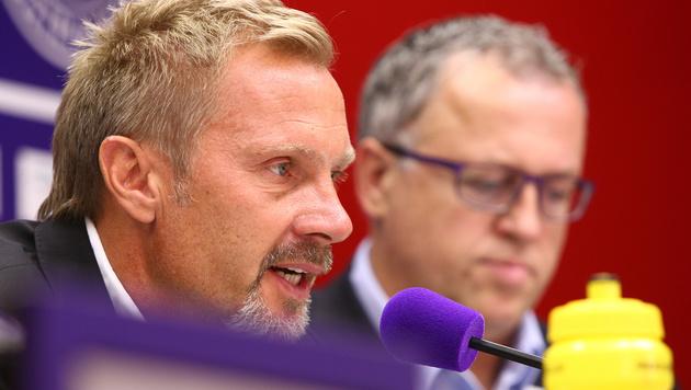 Neo-Austria-Coach Thorsten Fink präsentiert (Bild: GEPA)