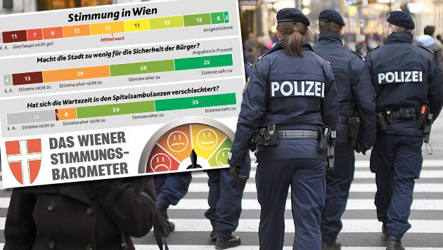 """Umfrage zeigt: Wunsch nach mehr Sicherheit in Wien (Bild: APA/HELMUT FOHRINGER, """"Krone"""")"""