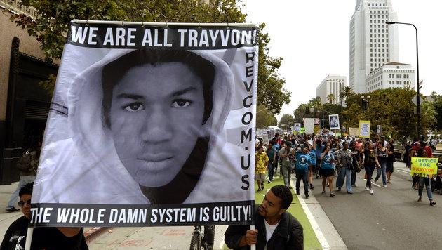 Trayvon Martin wurde von einem Sicherheitsbeamten erschossen. Der Schütze wurde freigesprochen. (Bild: MICHAEL NELSON/EPA/picturedesk.com)