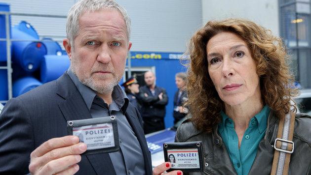 Moritz Eisner (Harald Krassnitzer) und Bibi Fellner (Adele Neuhauser) bei den Ermittlungen (Bild: ORF/Petro Domenigg)