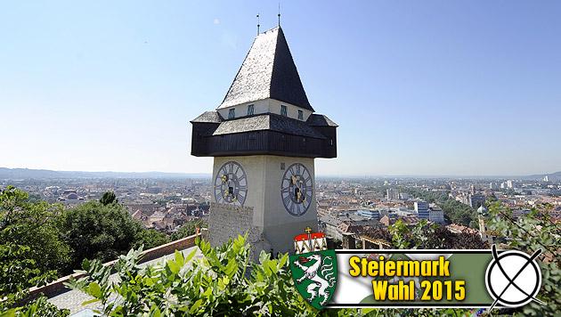 Gutes SP-Pflaster: Graz rettete Voves Platz eins (Bild: APA/HANS KLAUS TECHT, krone.at-Grafik)