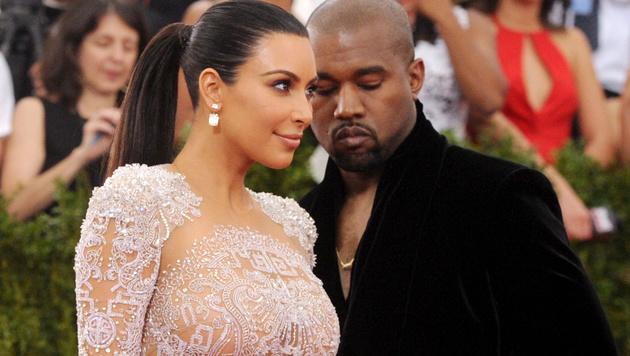 Kim Kardashian und Ehemann Kanye West (Bild: Charles Sykes/Invision/AP)