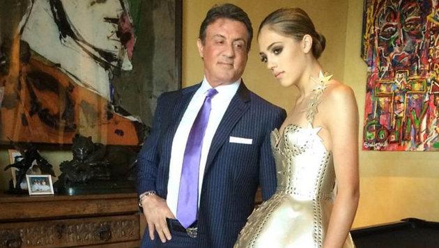 Sylvester Stallone ist stolz auf seine schöne Tochter Sistine. (Bild: Viennareport)