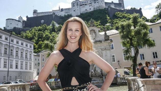 """""""Salzburg ist Kultur- und Modestadt!"""", schwärmt Topmodel Melanie Scheriau. (Bild: Markus Tschepp)"""