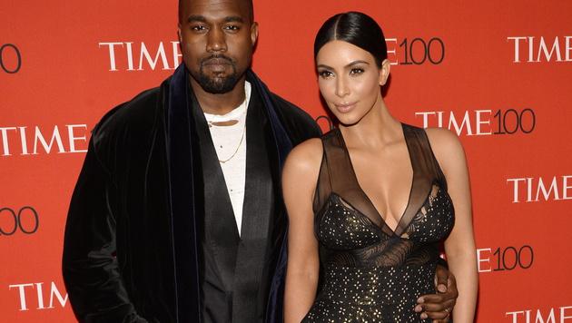 Kim Kardashian und Kanye West (Bild: APA/EPA/JUSTIN LANE)