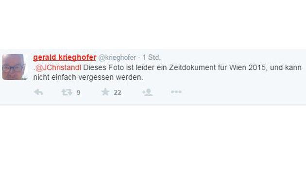Riesenwirbel um FPÖ-Demo vor Wiener Asylquartier (Bild: Entrüstungswelle auf Twitter)