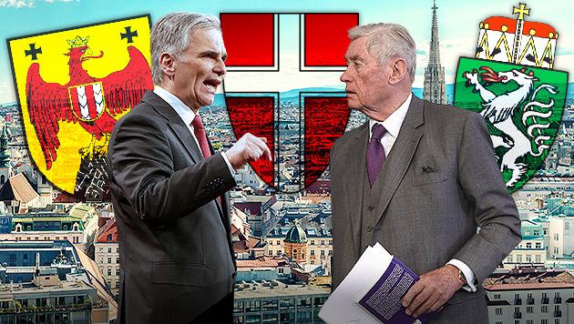 """Androsch: """"In Wien droht der SPÖ ein Waterloo"""" (Bild: APA/GEORG HOCHMUTH, APA/HELMUT FOHRINGER, thinkstockphotos.de)"""