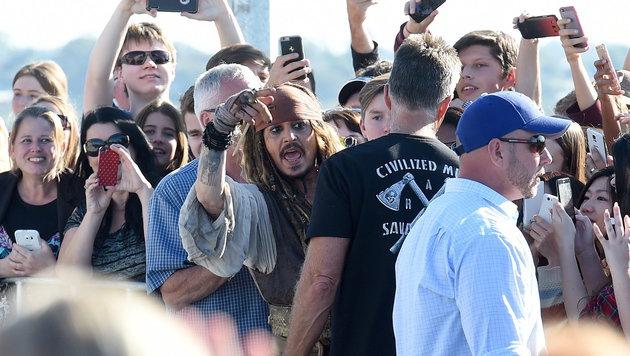 """Für """"Fluch der Karibik"""" steht Johnny Depp derzeit in Australien vor der Kamera. (Bild: APA/EPA/DAVE HUNT)"""