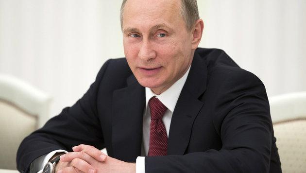Ein Wahlausgang ganz nach seinem Geschmack: Kremlchef Wladimir Putin (Bild: APA/EPA/PAVEL GOLOVKIN/POOL)