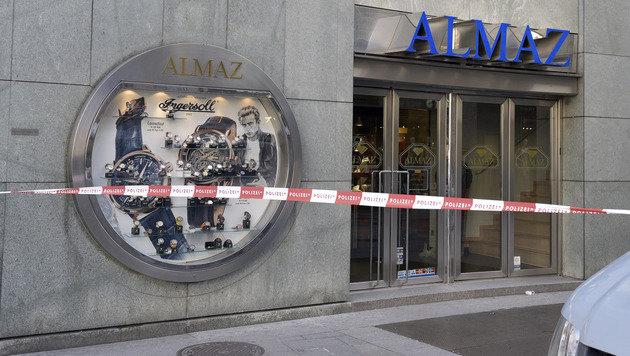 Überfall auf Juwelier am Wiener Stephansplatz (Bild: APA/HANS PUNZ)