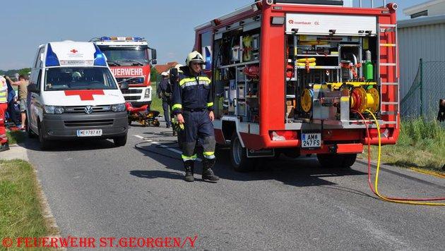 Zwei Tote und drei Schwerverletzte bei Unfall (Bild: FF St. Georgen/Ybbsfelde)