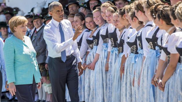 """Obama: """"Als Deutscher würde ich Merkel wählen"""" (Bild: APA/EPA/MARC MUELLER/POOL)"""